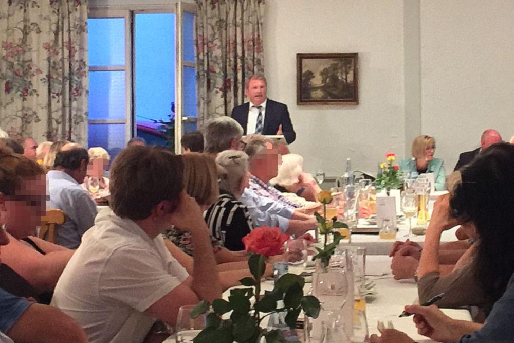 Dr. Ulrich Vonderheid im Wahlkampf